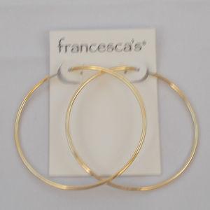 Thin Infinity Gold Hoop Earrings NWT
